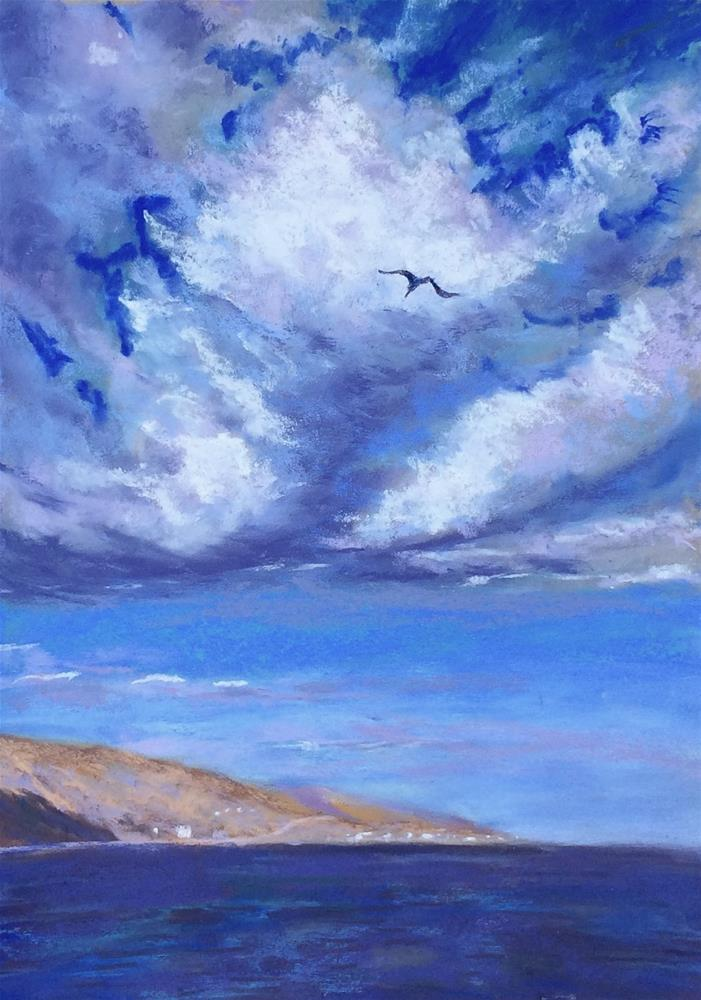 """I've Looked at Clouds"" original fine art by Jacquelyn Blue"