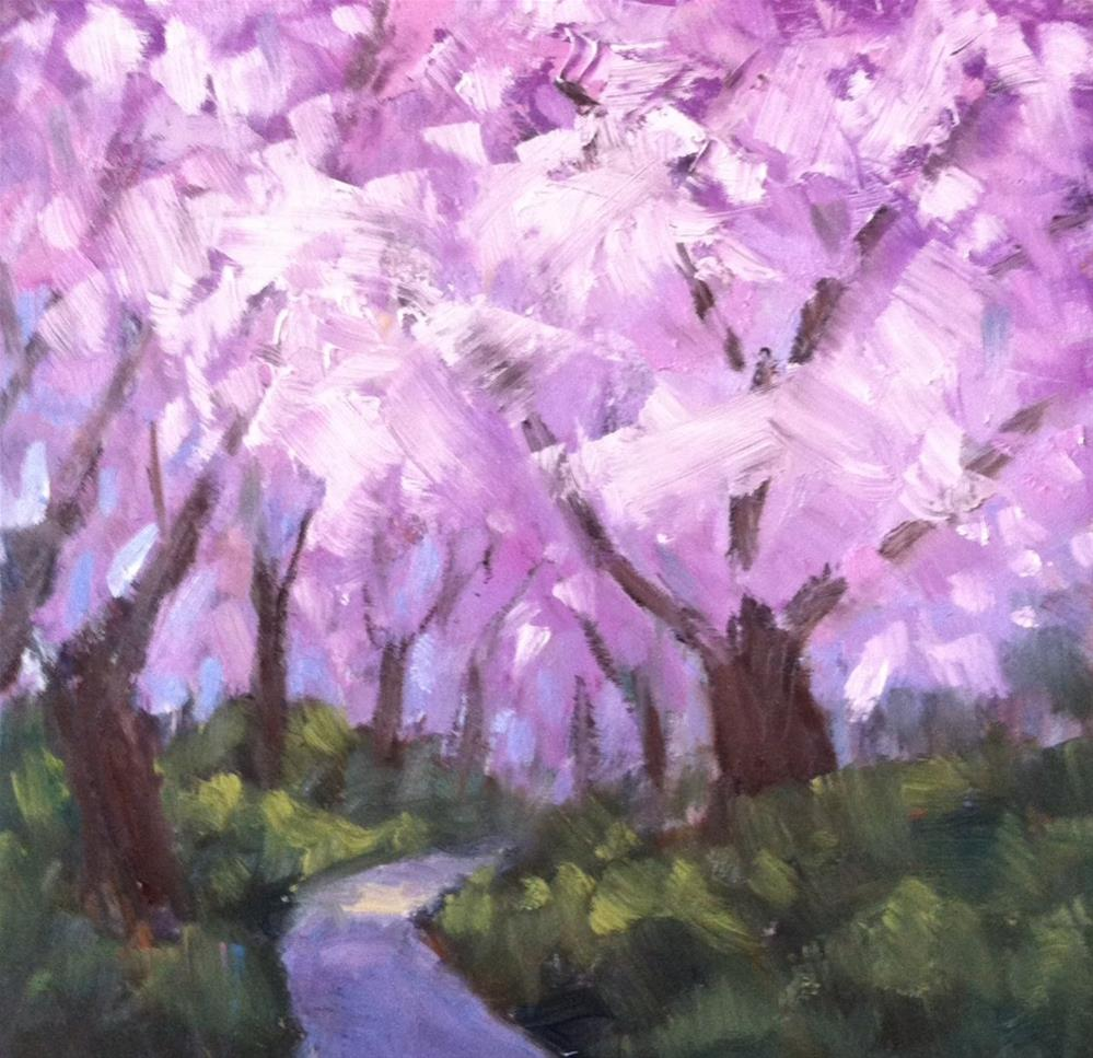 """Spring Path"" original fine art by Katharine March"