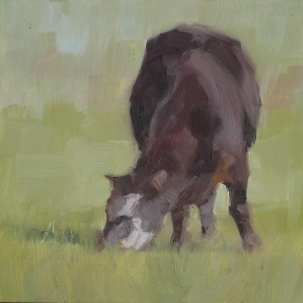 """Chico Cow"" original fine art by Nancy  Spinadel"