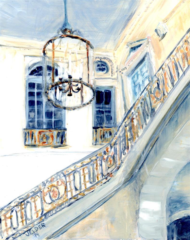 """Versailles No. 13"" original fine art by Judith Elder"
