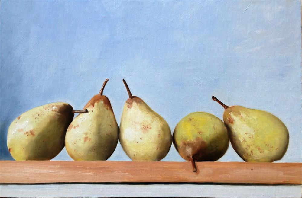 """Five Pears"" original fine art by James Coates"
