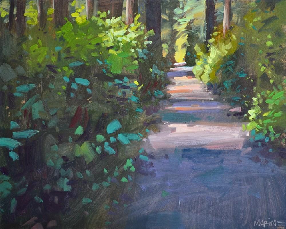 """The Path"" original fine art by Carol Marine"