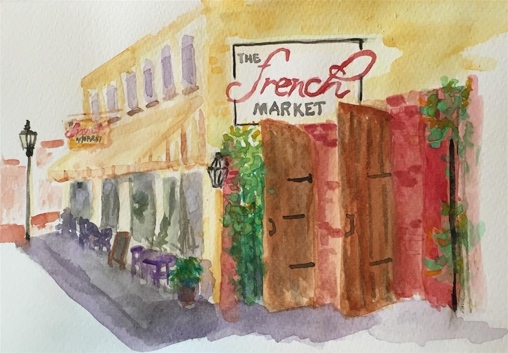 """French Market I"" original fine art by Elaine Ford"