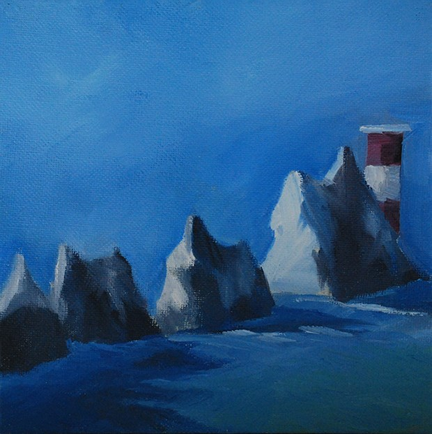 """The Needles"" original fine art by J M Needham"