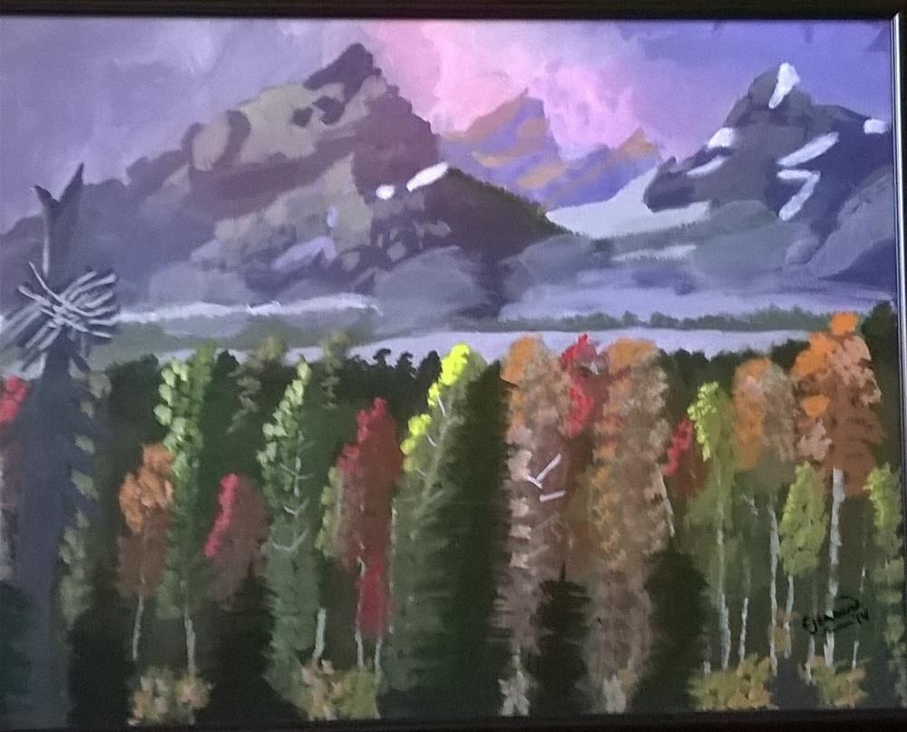 """""""The majesty of God's splendor"""" original fine art by Cindy Jensen"""
