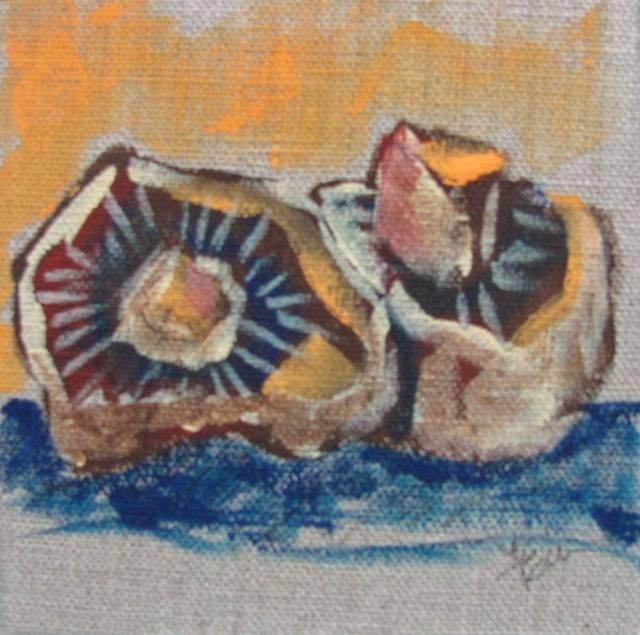 """""""Burlap Mushroom"""" original fine art by Terri Einer"""