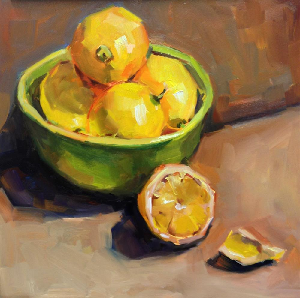 """Sunshine in a Bowl"" original fine art by Laurie Johnson Lepkowska"