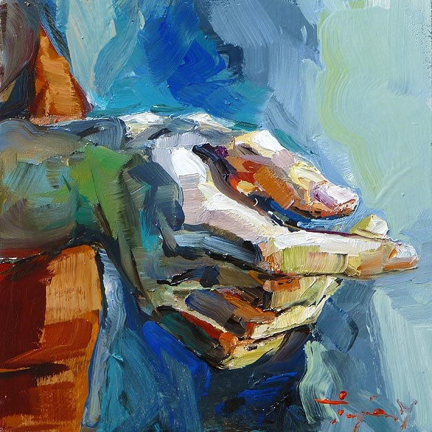 """hand study"" original fine art by Jurij Frey"