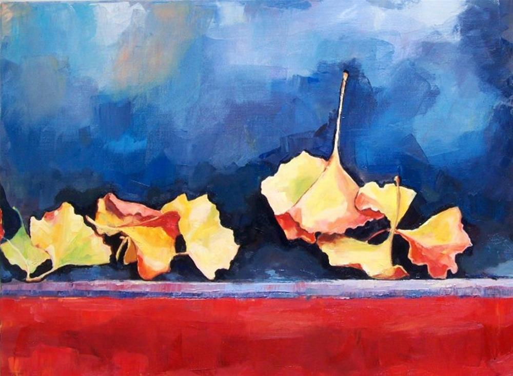"""Origami Ginkgo"" original fine art by Nava Judith"