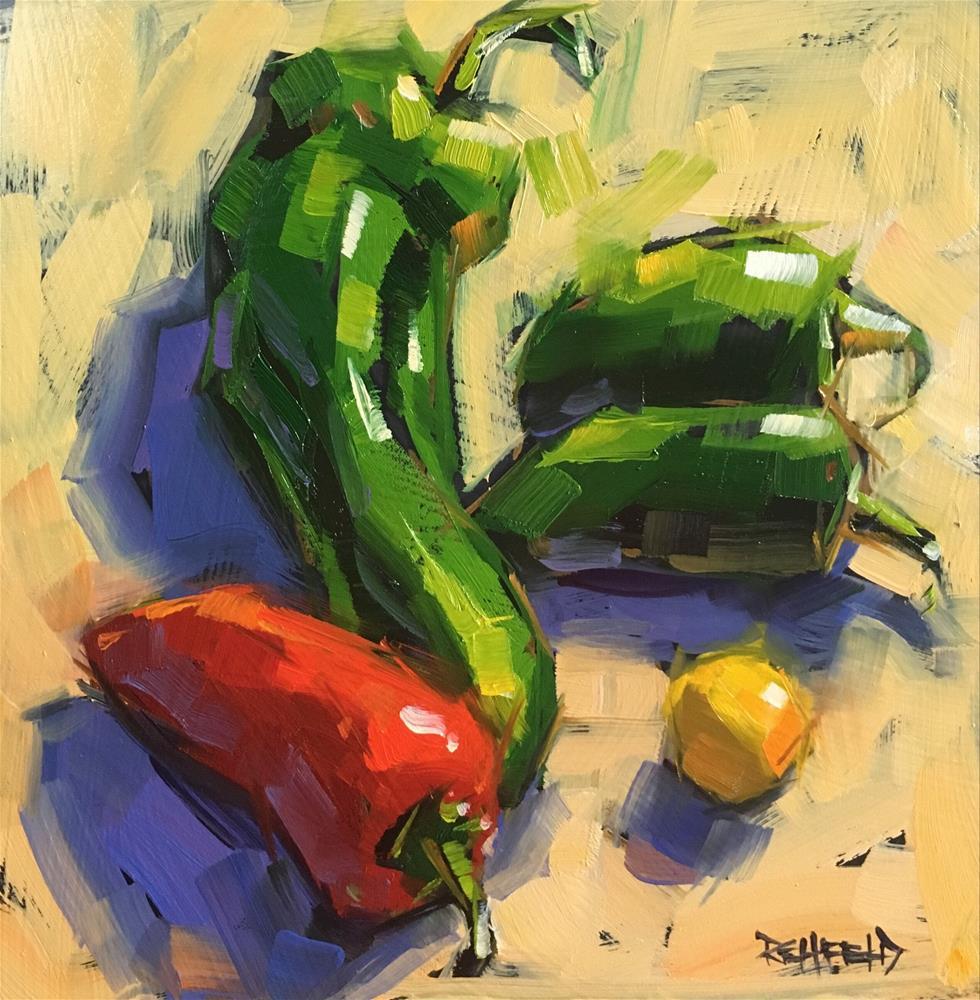 """Jalapeño Siesta"" original fine art by Cathleen Rehfeld"