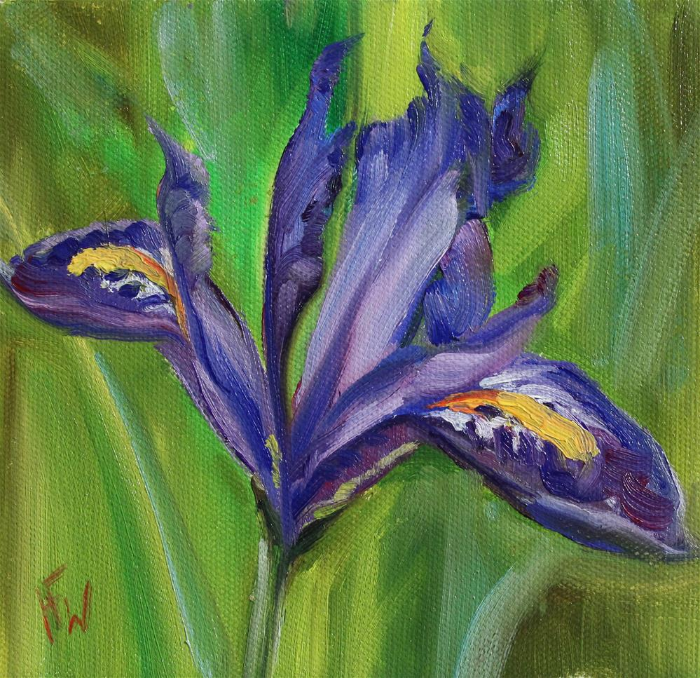 """""""Purple Iris #4"""" original fine art by H.F. Wallen"""