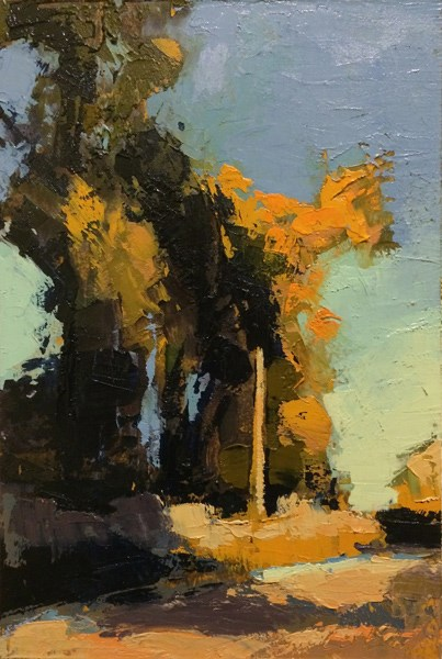 """Elm Savannah Pines"" original fine art by Mary Gilkerson"