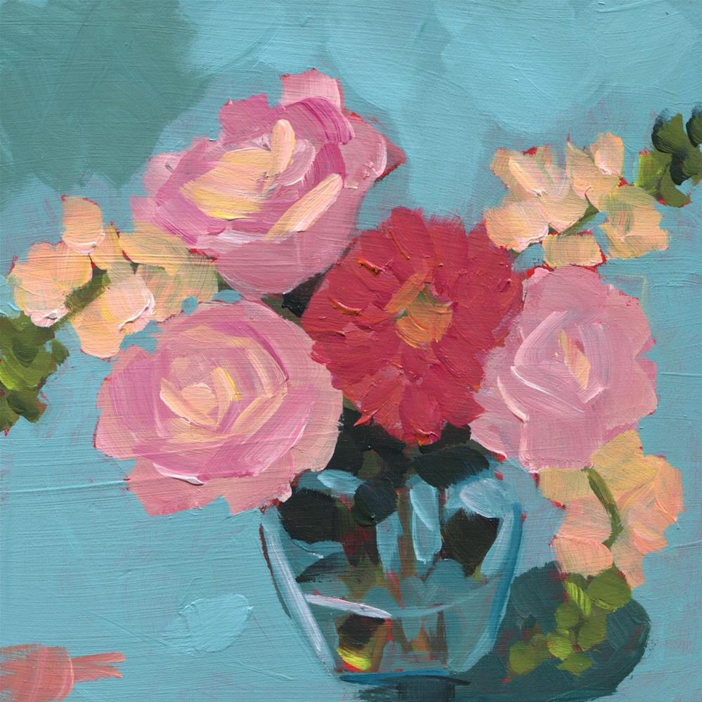 """Saturday Afternoon Blues (#455)"" original fine art by Debbie Miller"