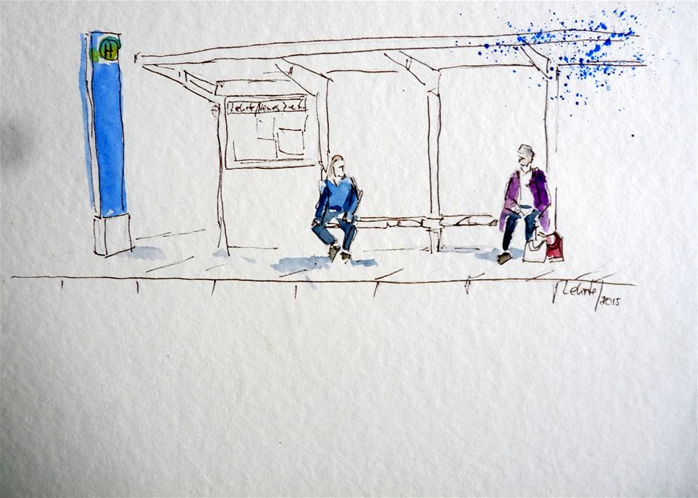 """Waiting No.1"" original fine art by Claudia Brandt"
