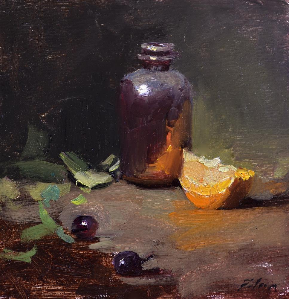 """Amber & Orange"" original fine art by Kelli Folsom"