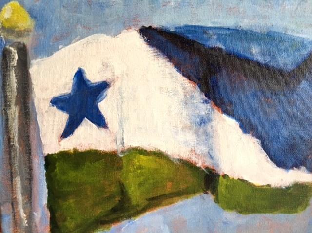 """Flag of Spring Hill, Tennessee"" original fine art by Susan Elizabeth Jones"