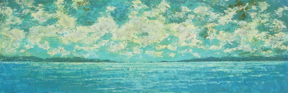 """""""Ocean Skyline"""" original fine art by Sage Mountain"""