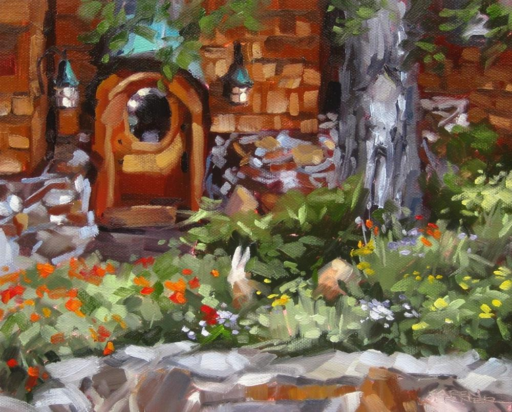 """Hobbit Door"" original fine art by Karen Werner"