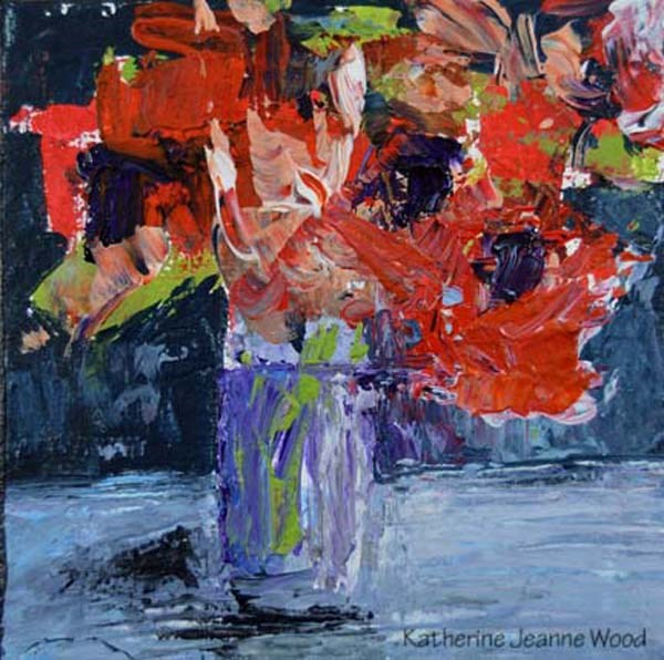 """Flower Series No 26"" original fine art by Katie Jeanne Wood"