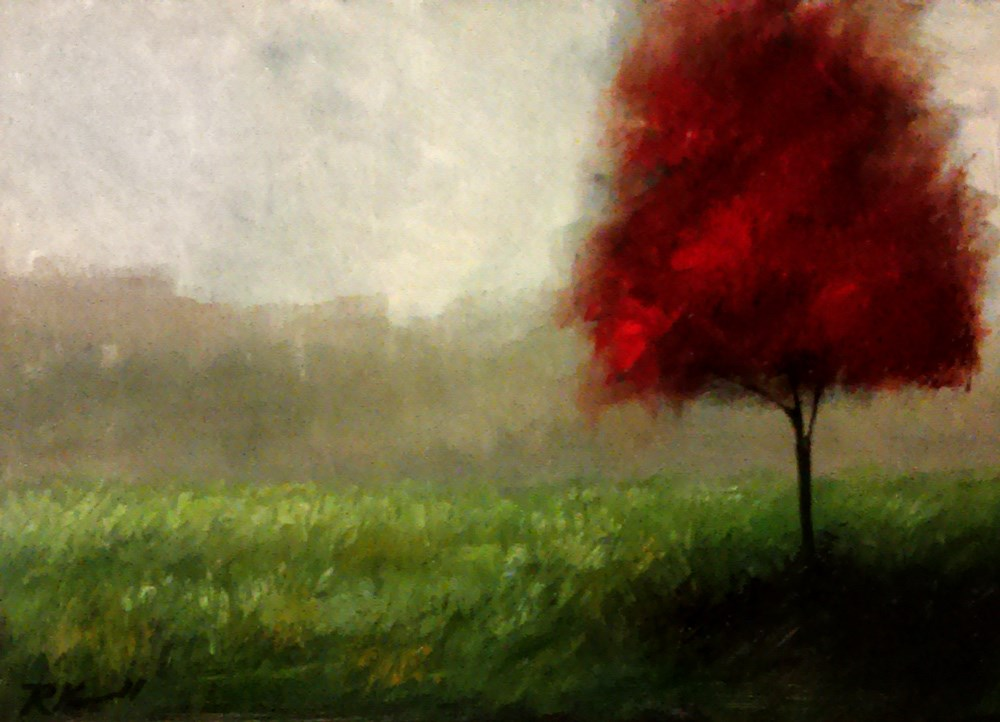 """The Young Maple"" original fine art by Bob Kimball"