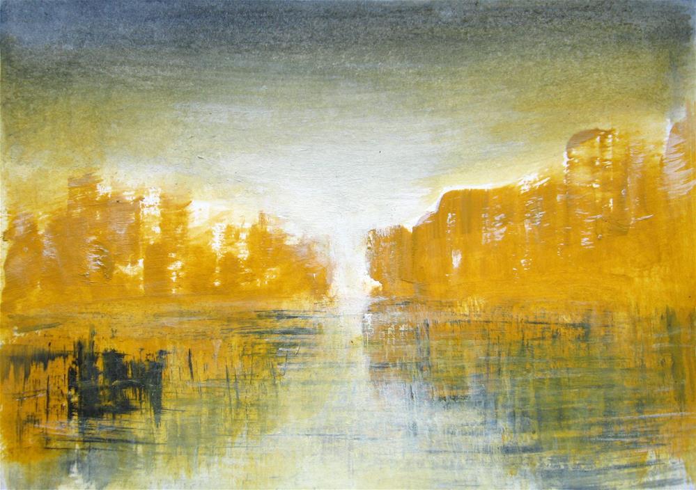 """Yellow Rocks"" original fine art by Alina Frent"
