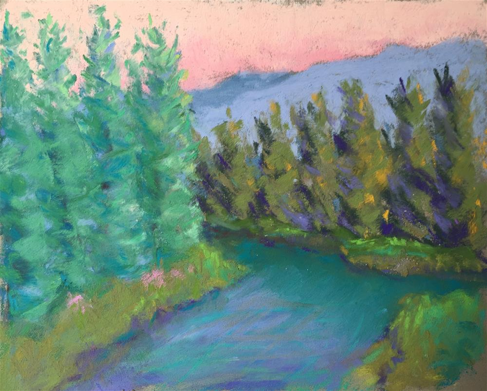 """Gore Creek 4"" original fine art by Sandi Miller"