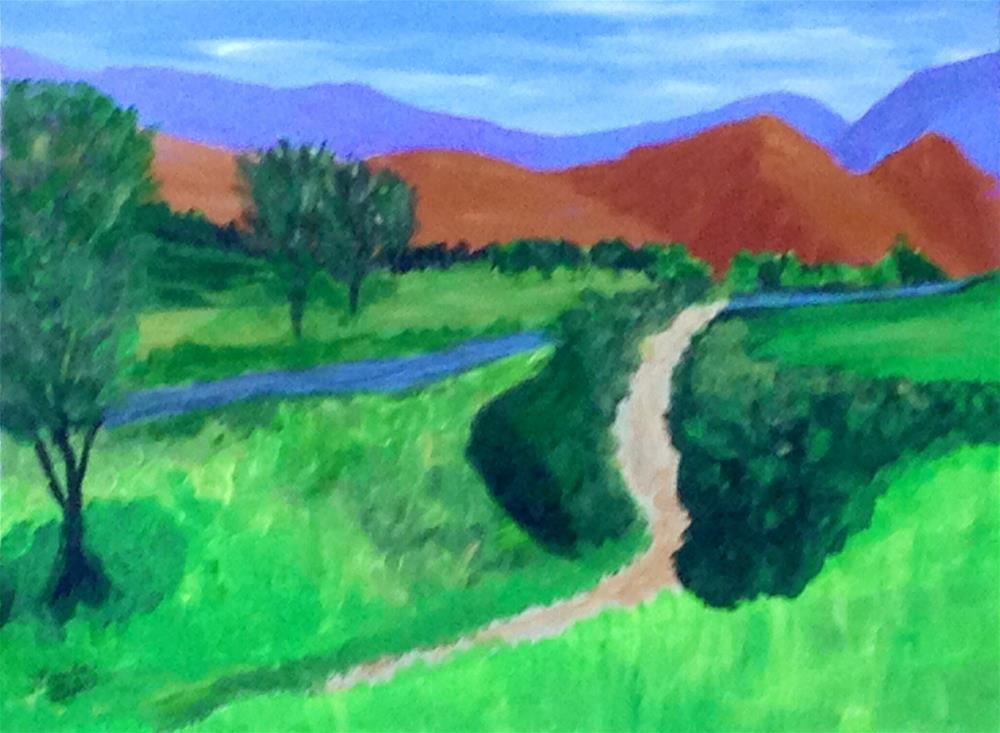 """Mohave River"" original fine art by Brenda Smith"