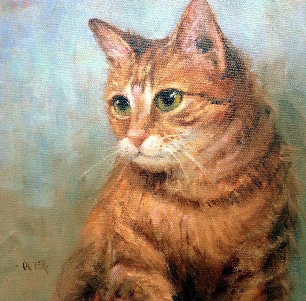 """Like Cats?"" original fine art by Julie Ford Oliver"