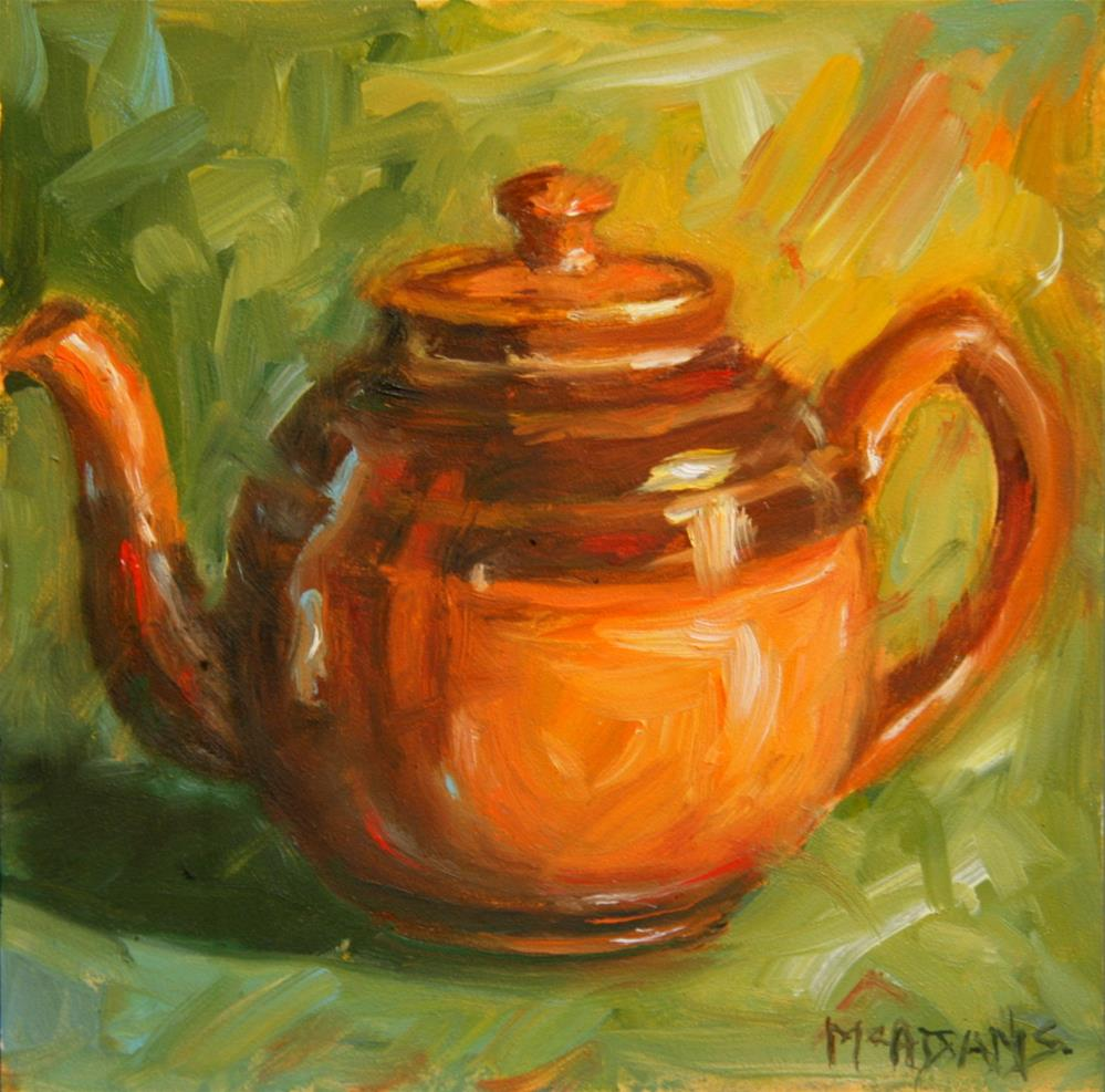 """The Brown Teapot"" original fine art by Phyllis McAdams"