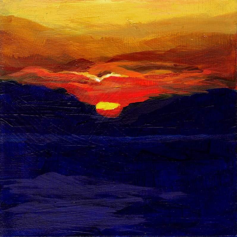 """Ablaze"" original fine art by Meredith Adler"
