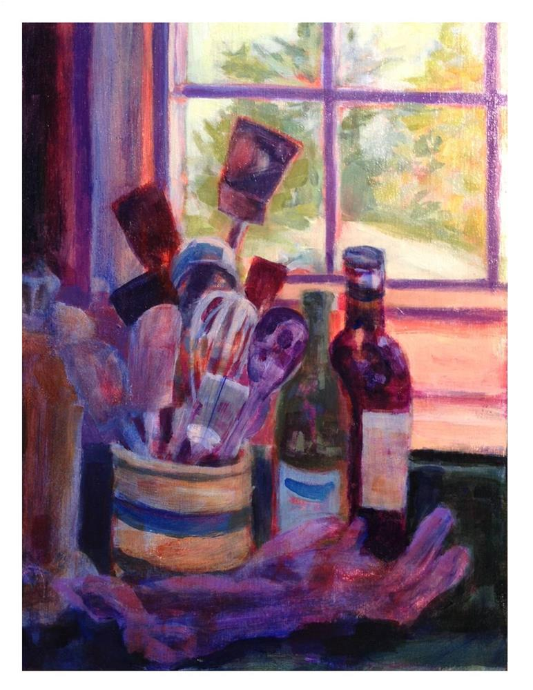 """Kitchen Paraphernalia"" original fine art by Suzanne Woodward"