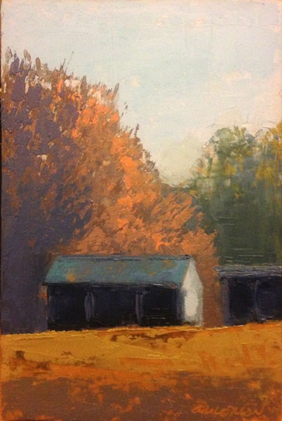 """Shed, Sunlight"" original fine art by Mary Gilkerson"