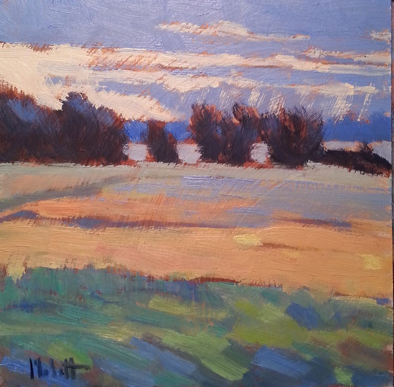 """Sun Rays and Changing Fields contemporary impressionism oil painting"" original fine art by Heidi Malott"