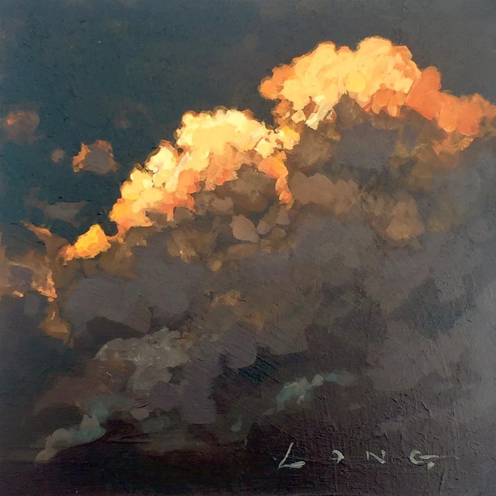 """Cloud Study #23"" original fine art by Chris Long"