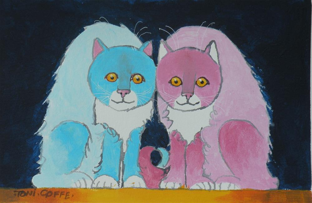 """Double Trouble"" original fine art by Toni Goffe"