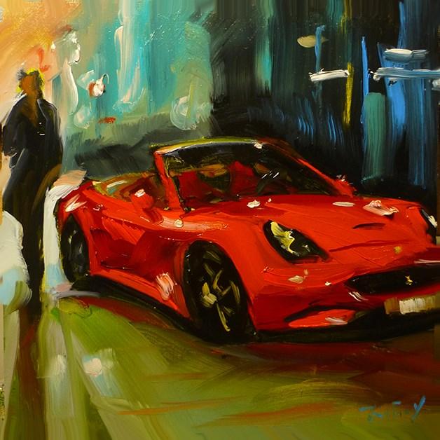 """""""in Rot"""" original fine art by Jurij Frey"""