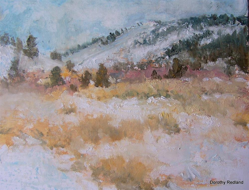 """Snow storm on the way"" original fine art by Dorothy Redland"