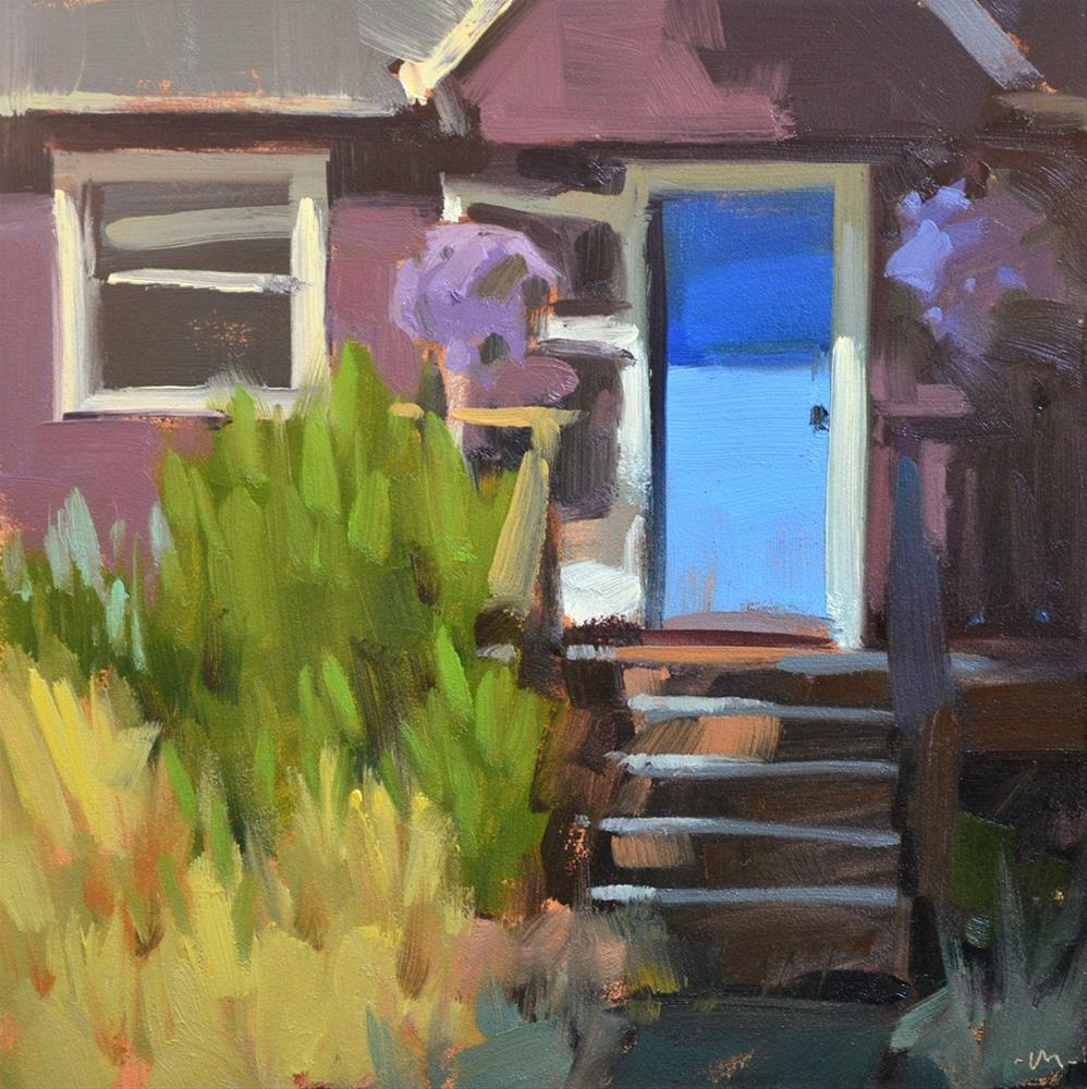 """Blue Door"" original fine art by Carol Marine"