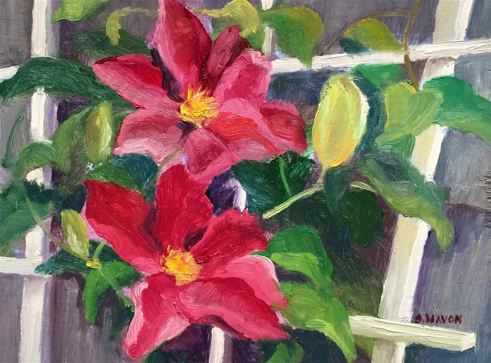 """Amy's Trellis"" original fine art by Stephanie Navon Jacobson"