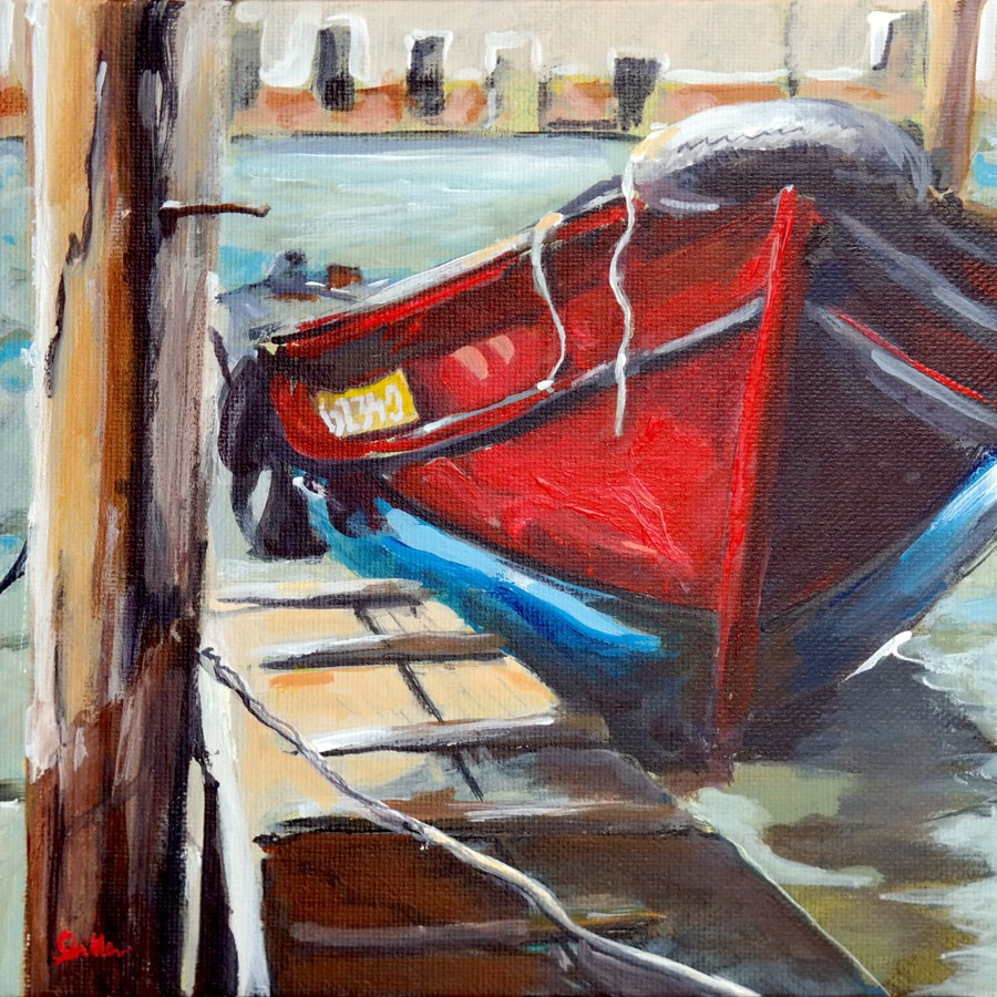 """1367 Boat No. 61340"" original fine art by Dietmar Stiller"
