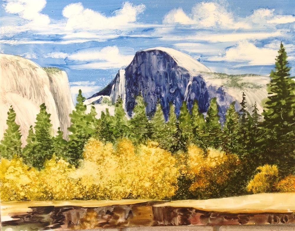 """Half Dome"" original fine art by Mark Tompkins"