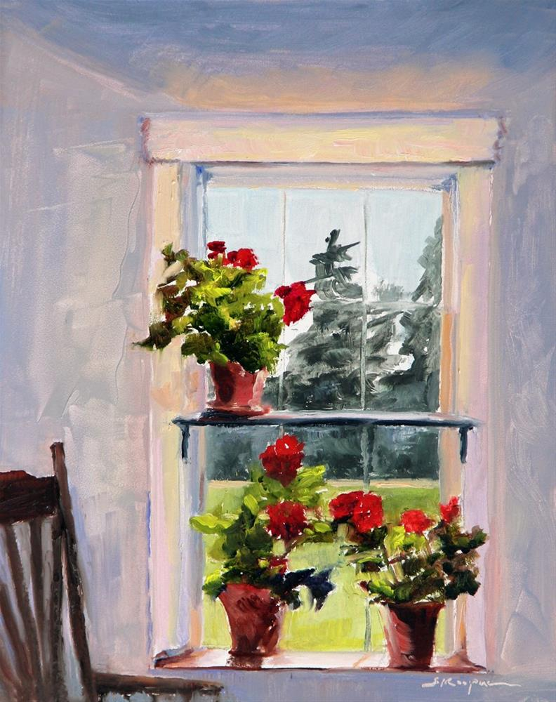 """Geranium View"" original fine art by Shelley Koopmann"