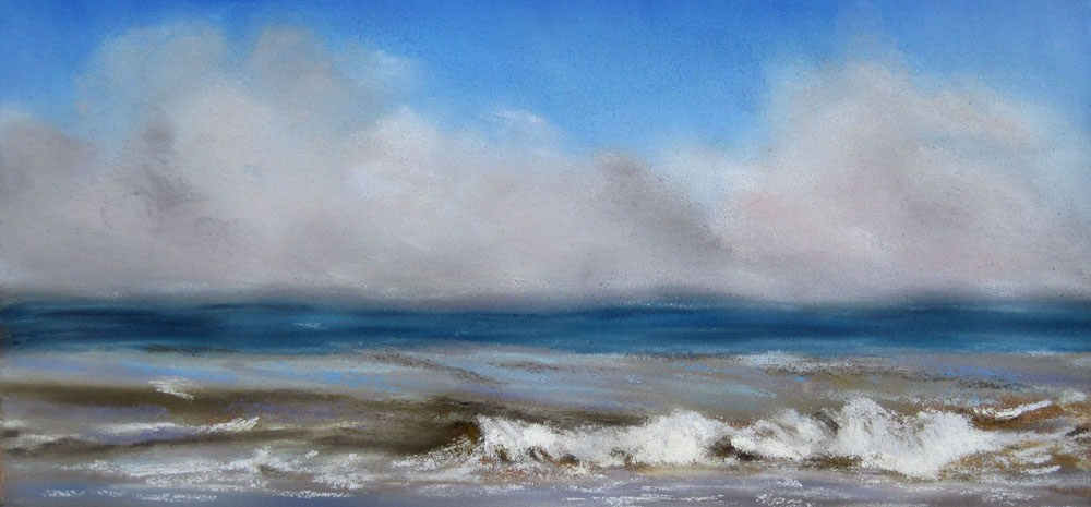 Foggy Coast original fine art by Ulrike Miesen-Schuermann