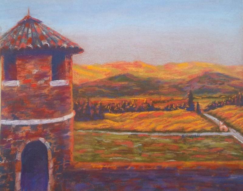 """""""Castello di Amoroso"""" original fine art by Becky Chappell"""
