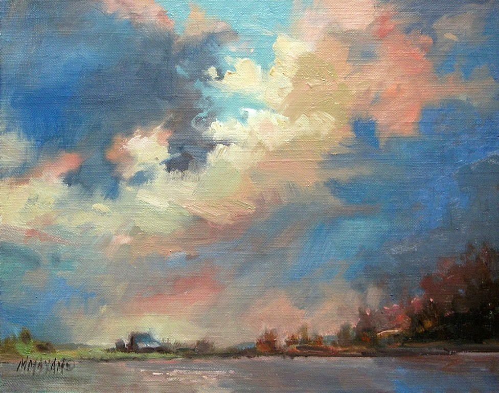 """New Dawn - Happy New Year!"" original fine art by Mary Maxam"