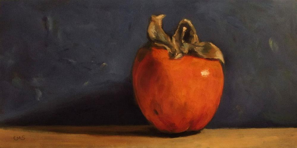 """Persimmon"" original fine art by Ulrike Miesen-Schuermann"