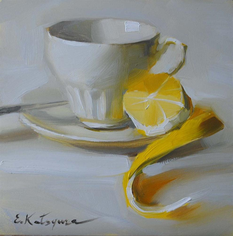 """Lemon Tea"" original fine art by Elena Katsyura"
