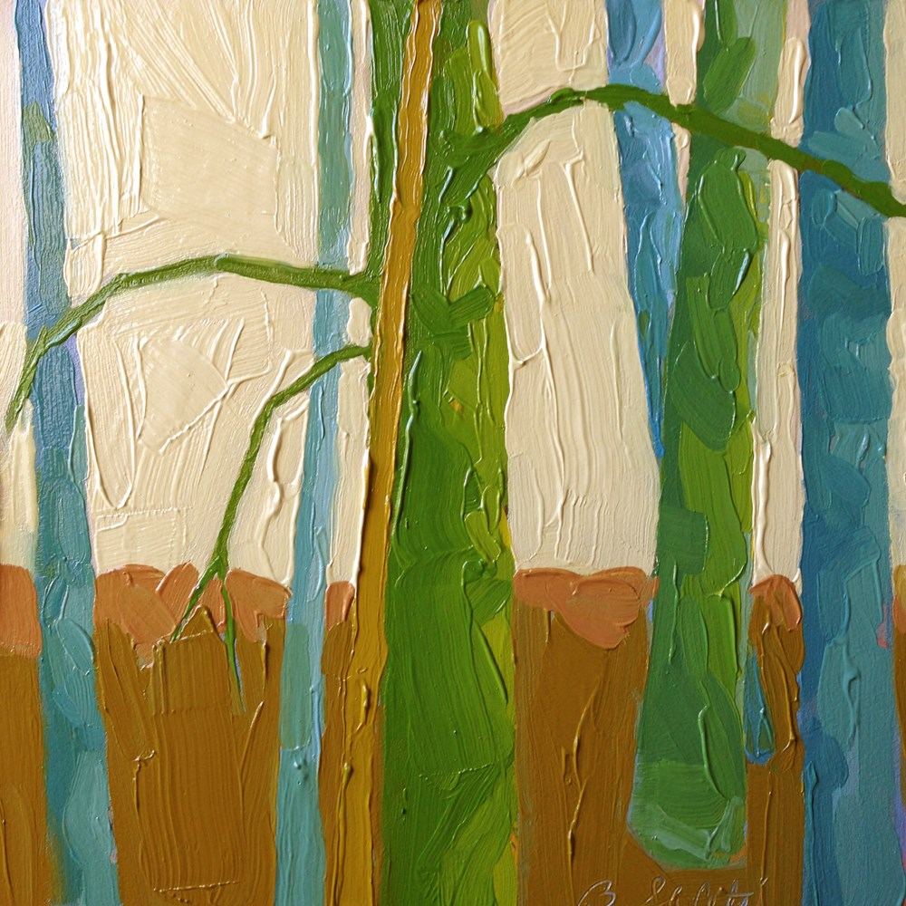"""trees without leaves II - variation 2"" original fine art by Barb Saletri"