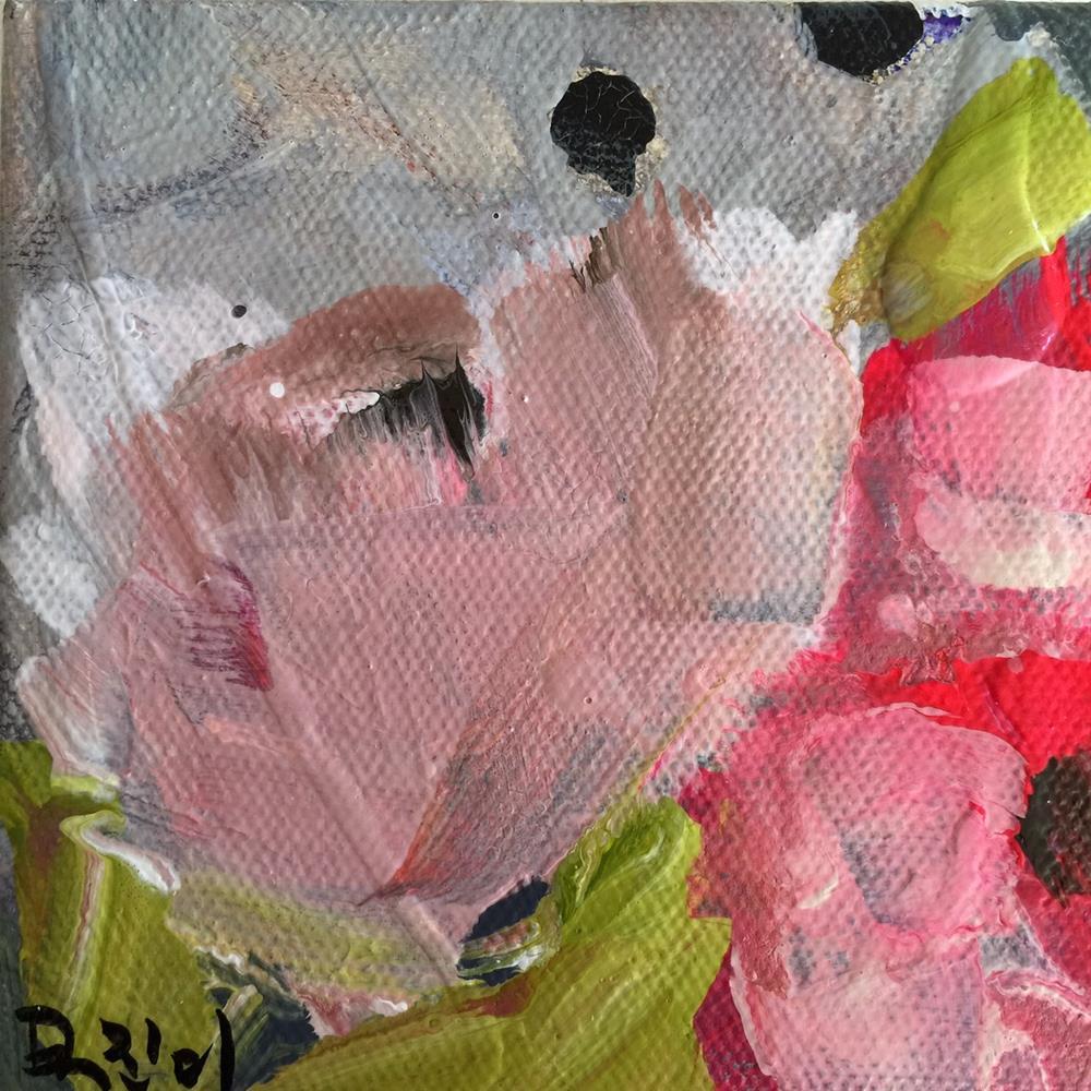 """73 Floral Clouds"" original fine art by Jenny Doh"