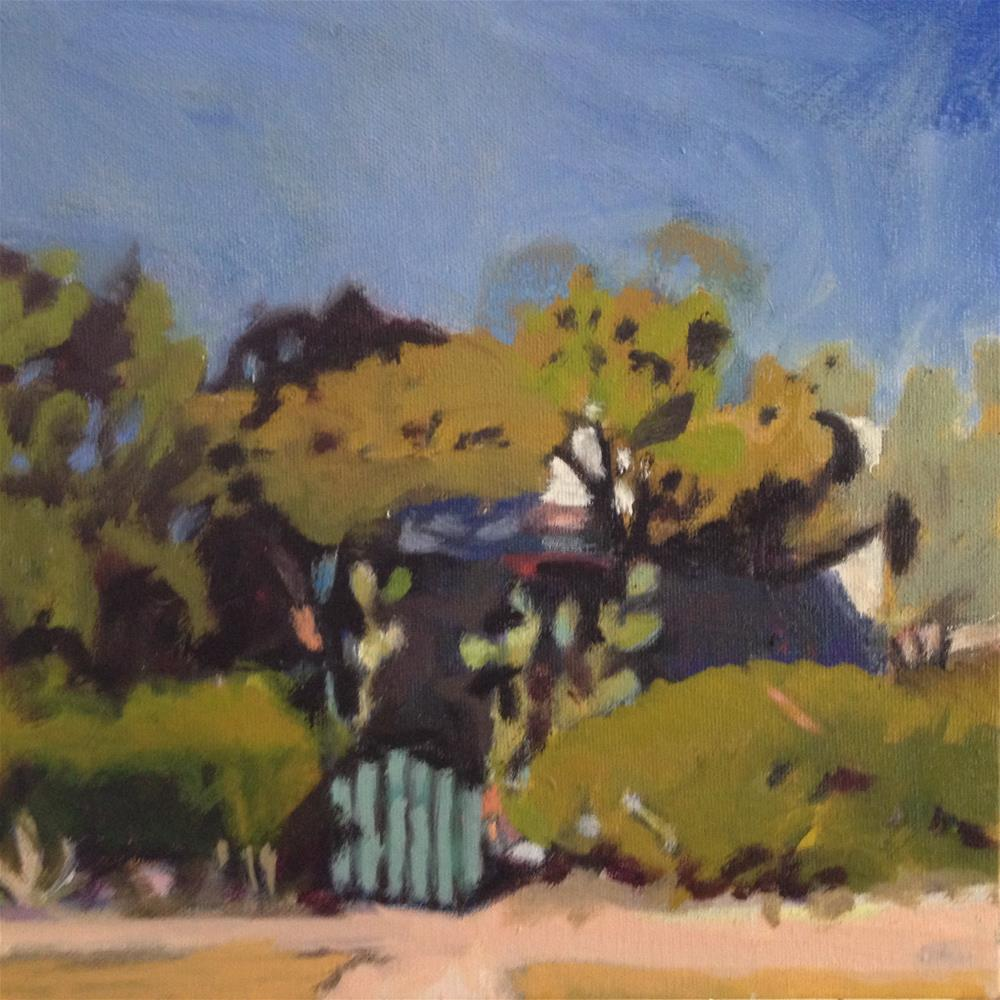 """Turquoise Gate"" original fine art by Pamela Hoffmeister"